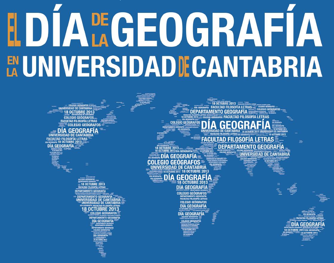 Cartel del Día de la Geografía en Cantabria 2013