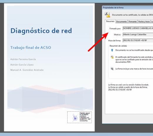 Firma digital en un PDF