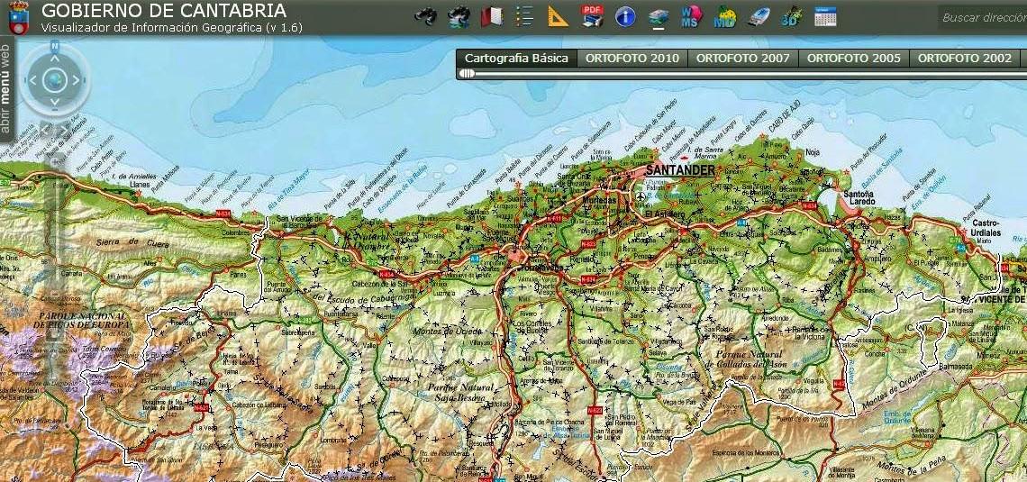 Portal de descargas de cartografía del Gobierno de Cantabria