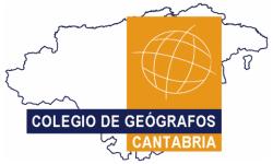Logo DT del Colegio de Geógrafos en Cantabria