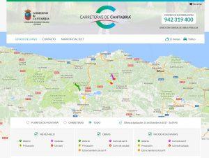 nueva versión del mapa de carreteras de Cantabria