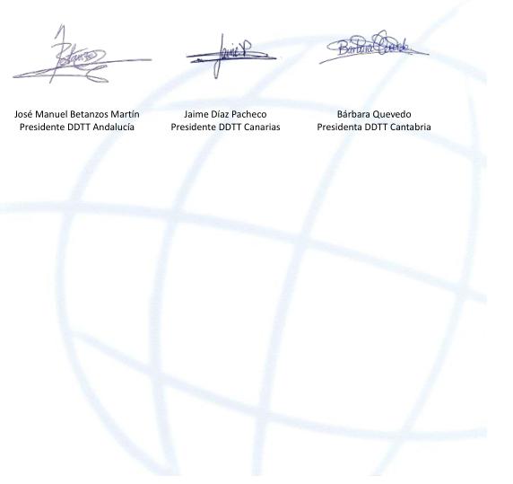 Firmas de los Presidentes de las 3 Delegaciones