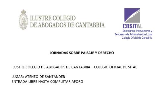 """Programa de las Jornadas """"Paisaje y Derecho"""""""
