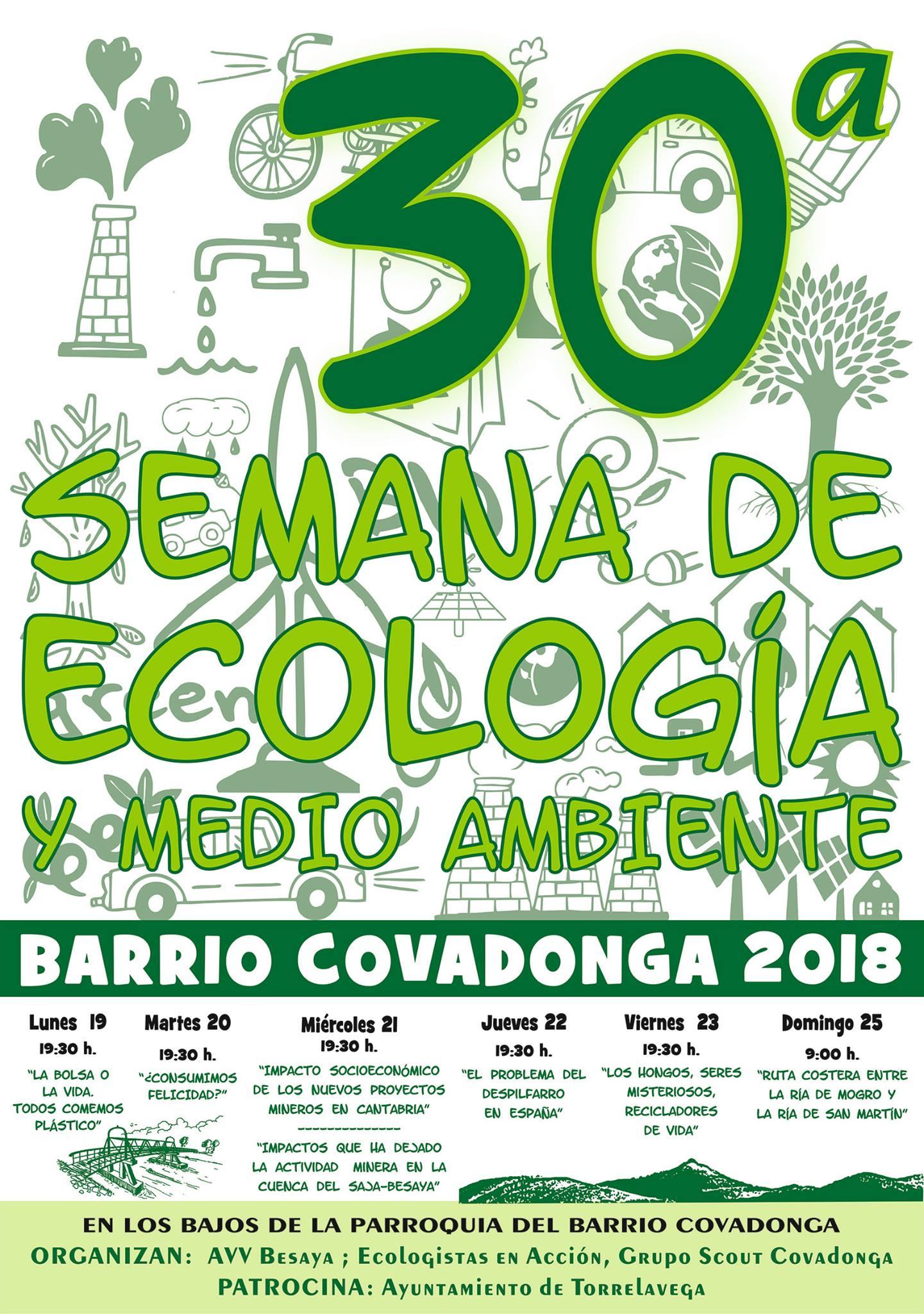 Cartel de la 30ª semana de ecología y medio ambiente
