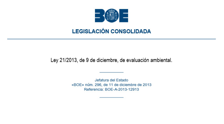 Actualización Legislación consolidada