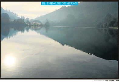 Paisajes de Cantabria: El embalse de Heras