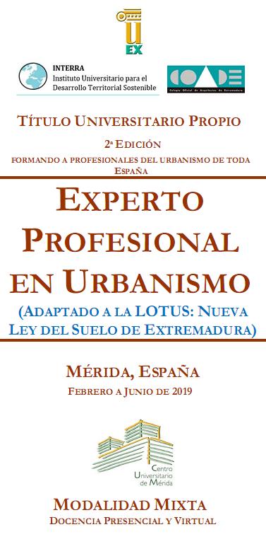 II Curso de Experto Profesional en Urbanismo
