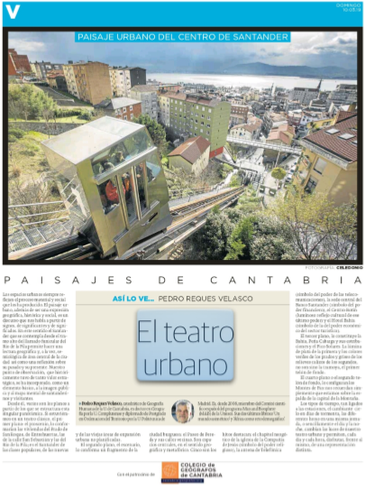 artículo el teatro urbano del diario montañes (10/03/2019)