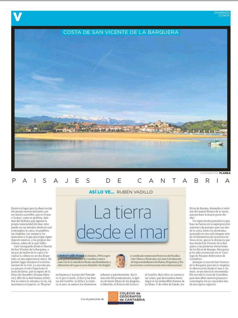 PDF del artículo publicado por el Diario Montañés el 21 de abril de 2019 y escrito por Rubén Vadillo