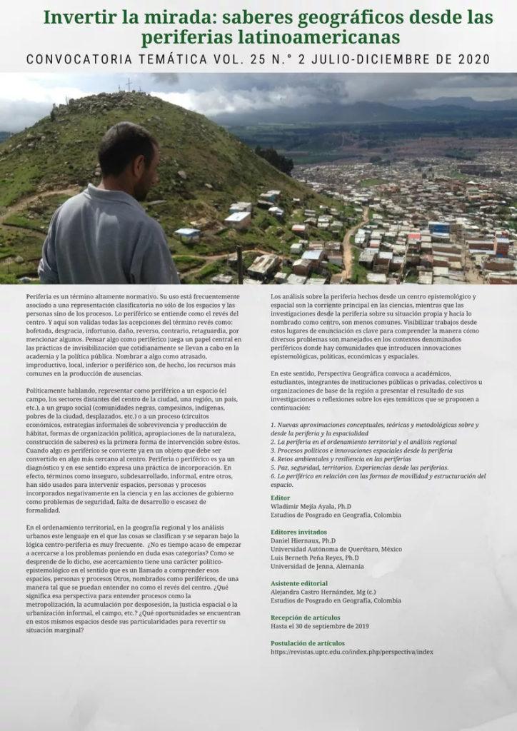 Invertir la mirada: saberes geográficos desde las periferias latinoamericanas