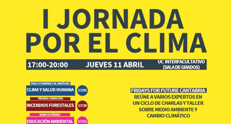 Cartel Jornada por el clima en Cantabria