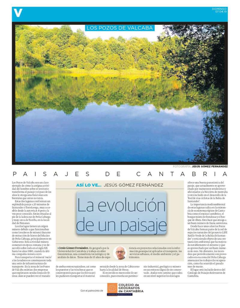 PDF del artículo publicado por el Diario Montañés el 7 de abril de 2019 y escrito por Jesús Gómez Fernández