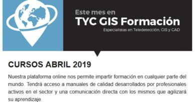 Programa de la plataforma TYC GIS Formación