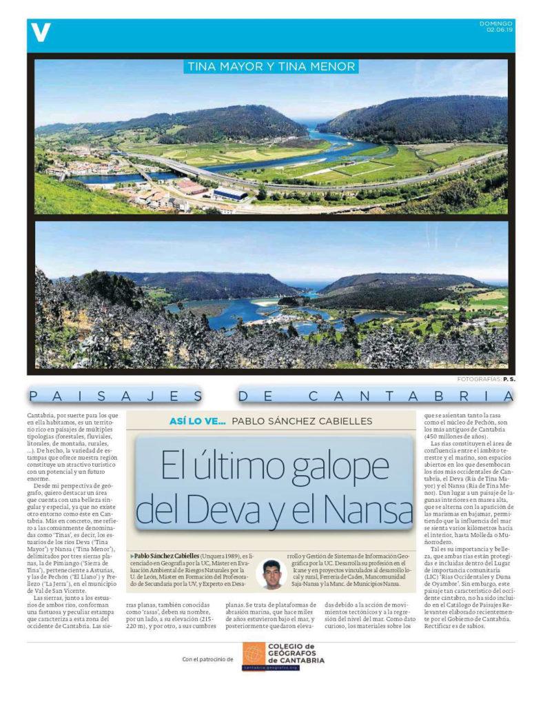 PDF del artículo publicado por el Diario Montañés el 02 de junio de 2019 y escrito por Pablo Sánchez