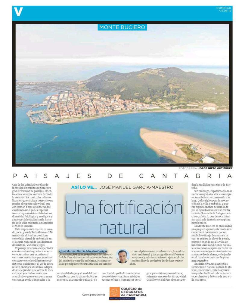 PDF del artículo publicado por el Diario Montañés el 09 de junio de 2019 y escrito por José Manuel García-Maestro