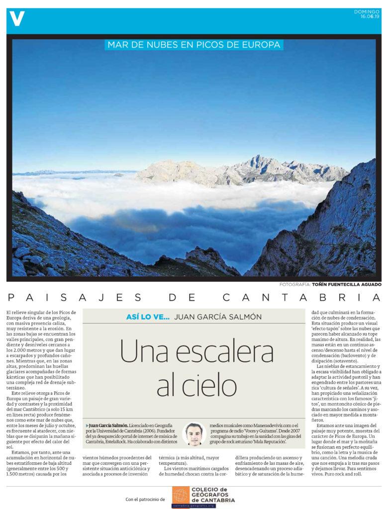 PDF del artículo publicado por el Diario Montañés el 16 de junio de 2019 y escrito por Juan García Salmón