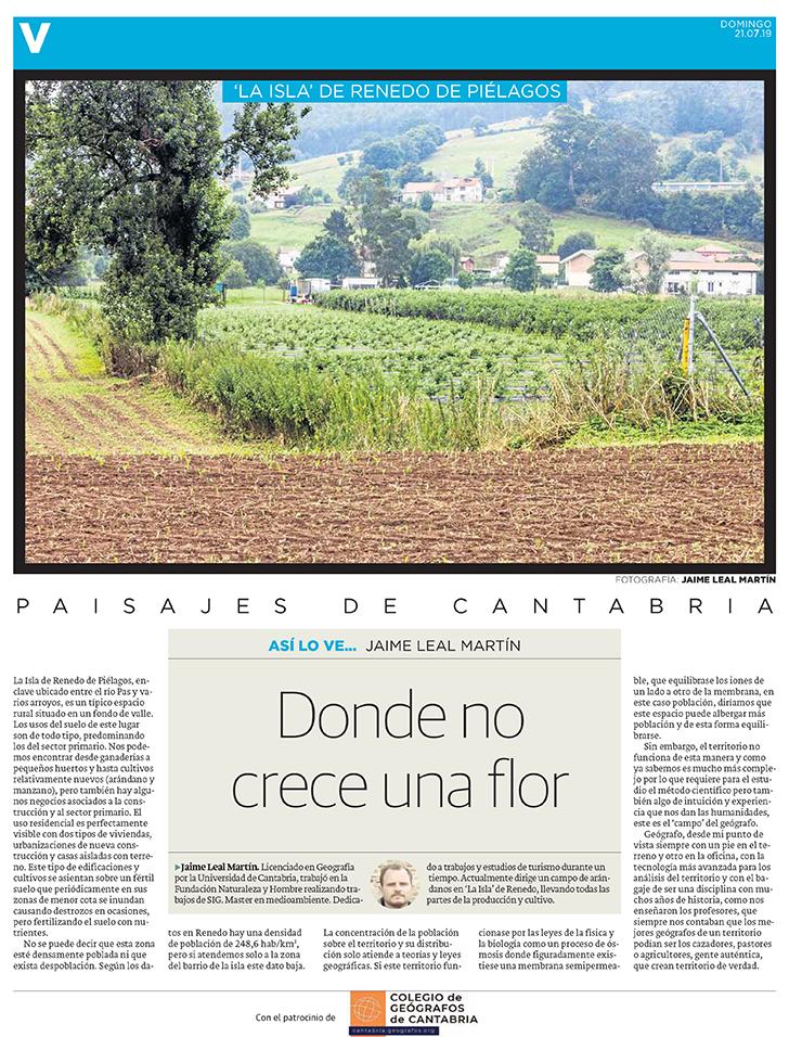 PDF del artículo publicado por el Diario Montañés el 21 de julio de 2019 y escrito por Jaime Léal Martín