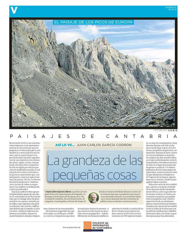 PDF del artículo publicado por el Diario Montañés el 18 de agosto de 2019 y escrito por Juan Carlos García Codrón