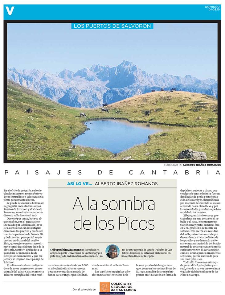 PDF del artículo publicado por el Diario Montañés el 1 de septiembre de 2019 y escrito por Alberto Ibañes Romano