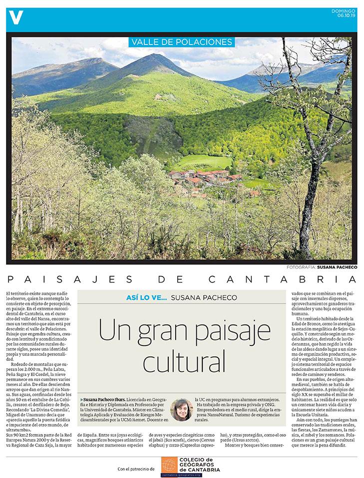 PDF del artículo publicado en el Diario Montañés el 6 de octubre de 2019, escrito por Susana Pacheco. Foto de Susana Pacheco.