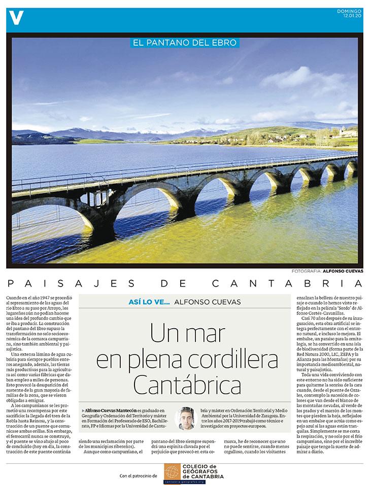 PDF del artículo publicado en el Diario Montañés el 12 de enero de 2020, escrito por Alfonso Cuevas. Foto de Alfonso Cuevas.