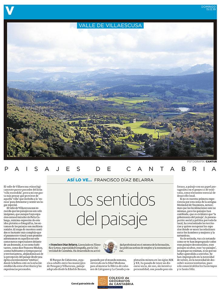 PDF del artículo publicado en el Diario Montañés el 15 de diciembre de 2019, escrito por Francisco Díaz Belarra. Foto de Cantur.
