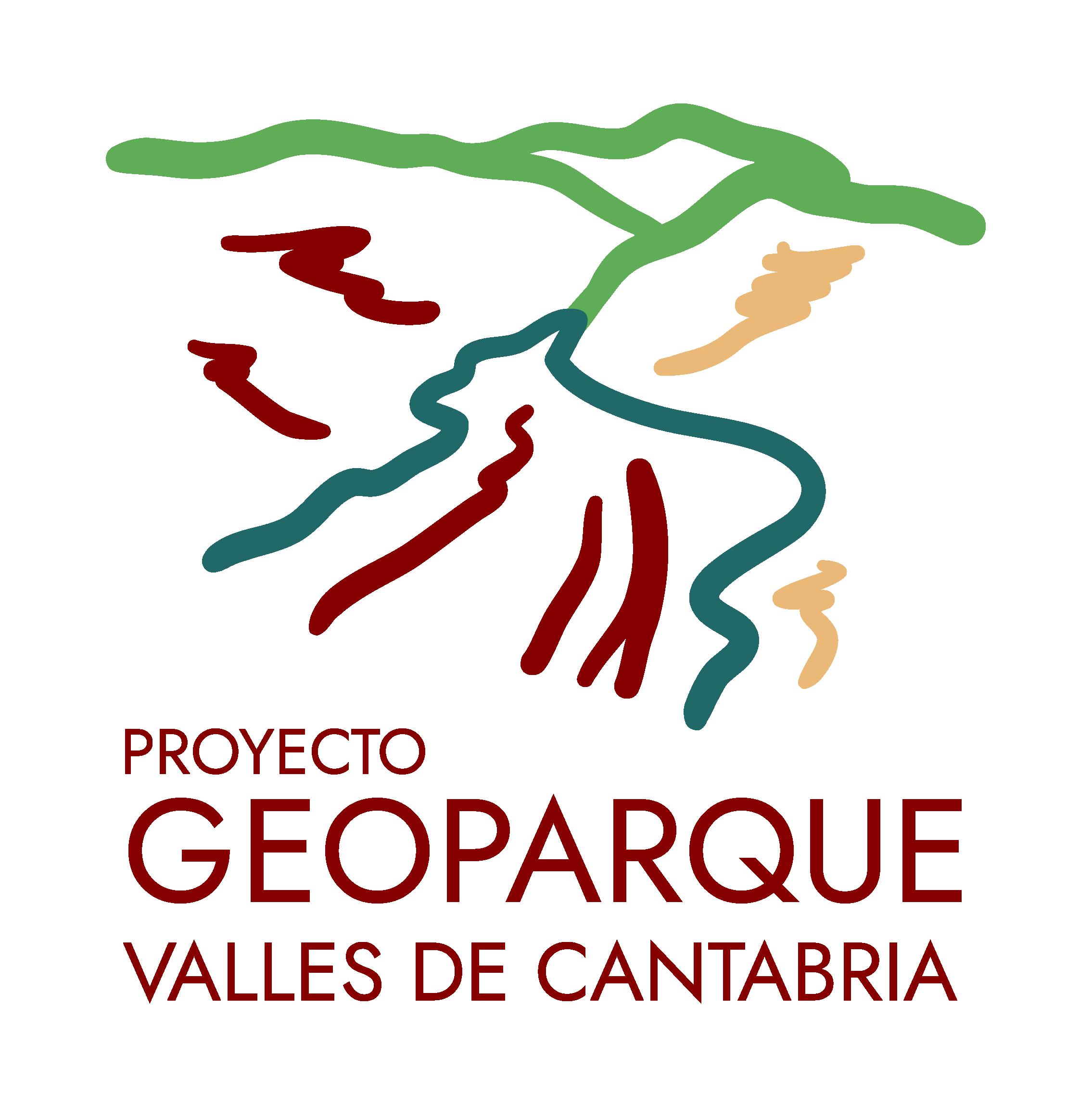 Logo del proyecto geoparque valles de Cantabria